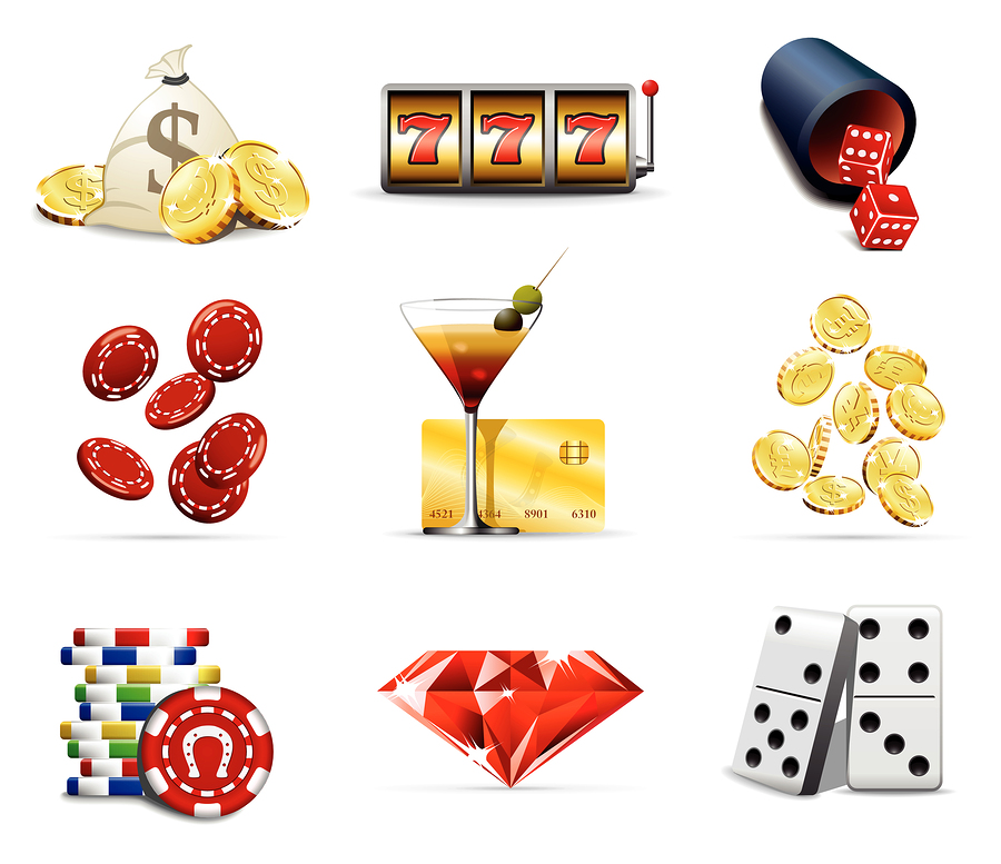 bigstock Casino and gambling icons 7136499 På casinot